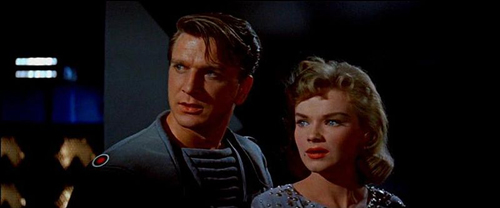 Leslie Nielsen and Anne Francis in The Forbidden Planet
