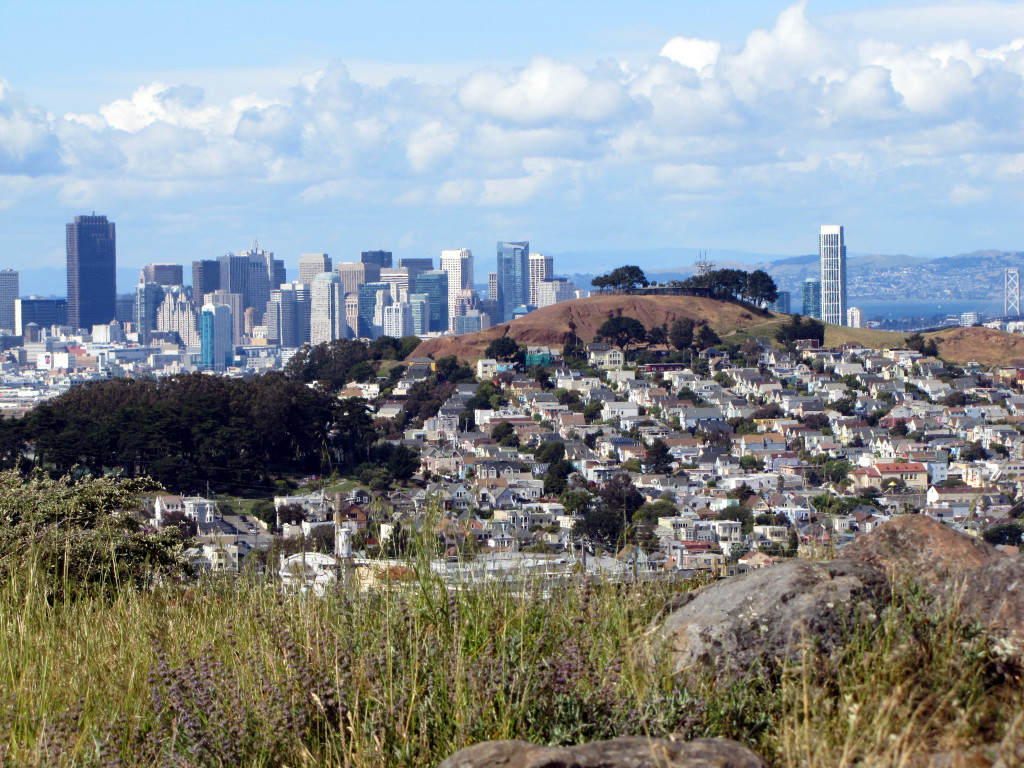 Bernal Hill and Downtown San Francisco