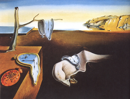 Dali clock painting