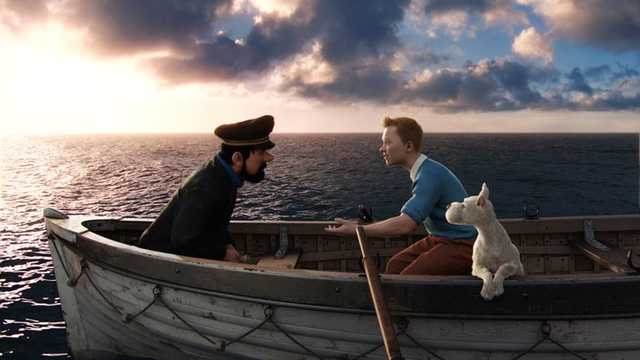 """the adventures of Tintin"" marooned"