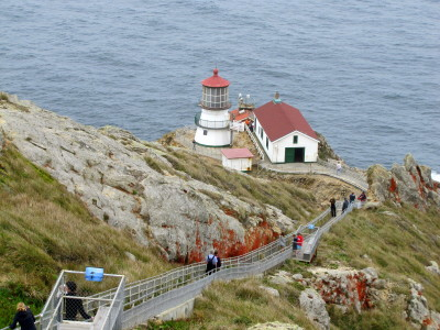 That is the Point Reyes Lighthouse. It's also the movie home of radio station KAB 1340 and Stevie Wayne. Can you remember the movie?