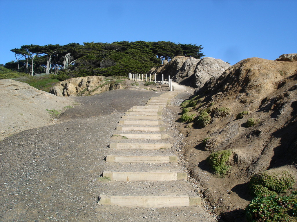 Stairs near Sutro Bath
