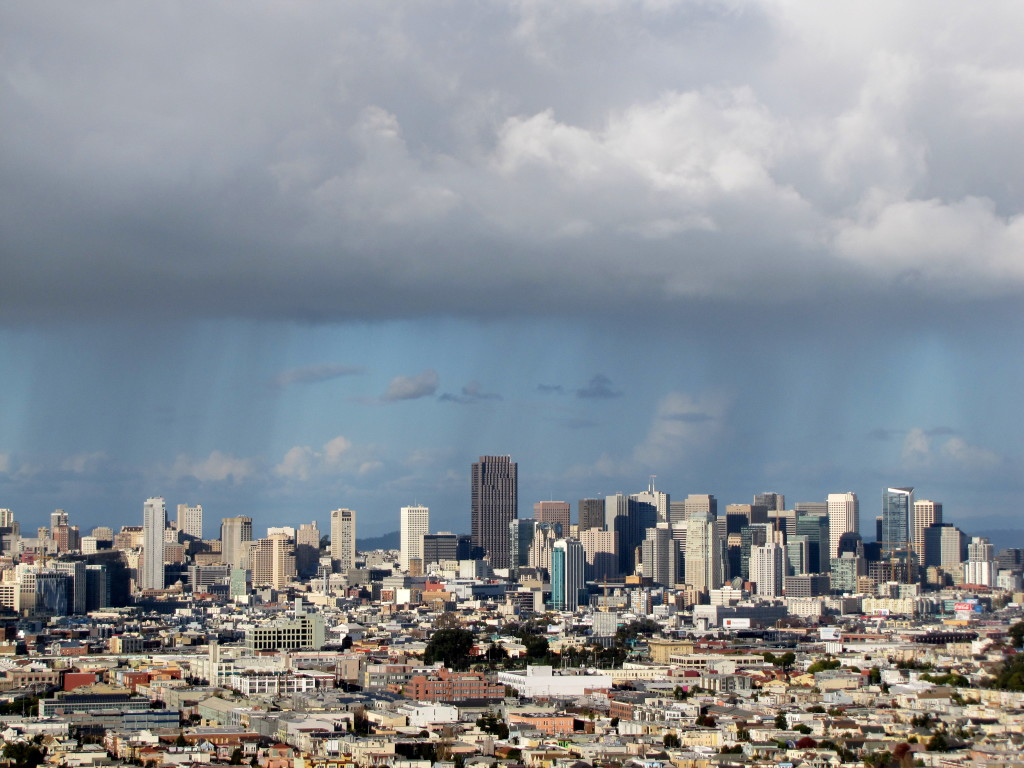 Rain over San Francisco