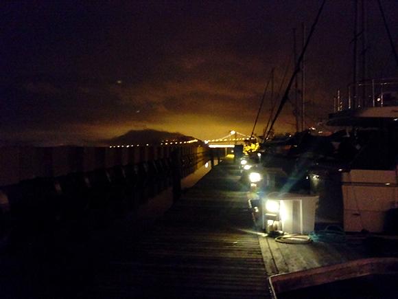 Looking towards the new Bay bridge from the marina