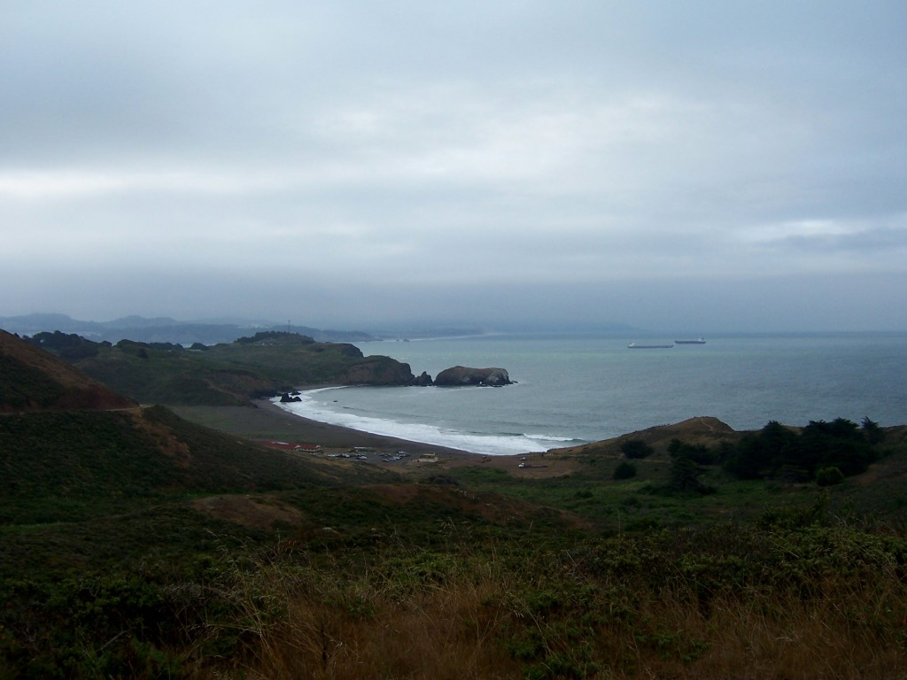 Looking back at Rodeo Beach by Lastech