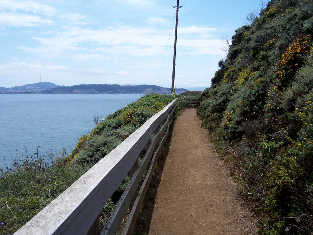 The trail on the lighthouse side of the tunnel by Lastech