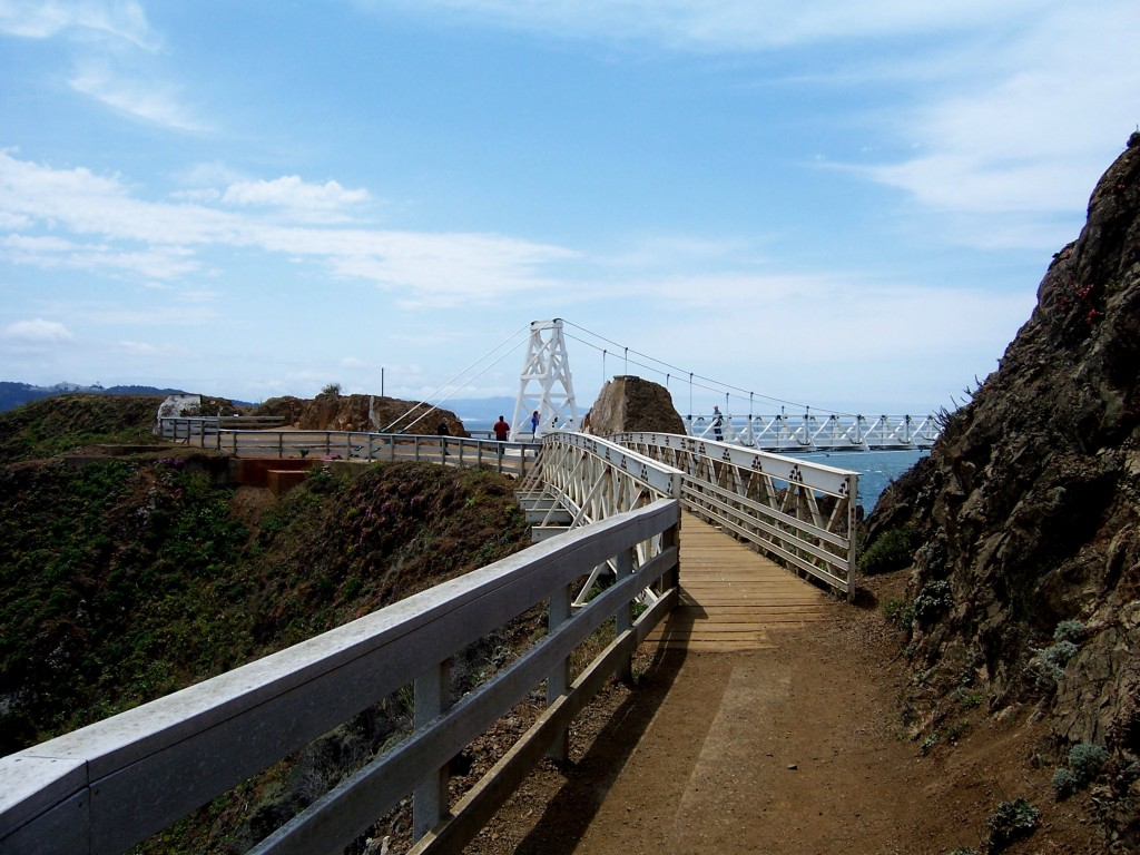 Finally approaching the bridge to the lighthouse by Lastech