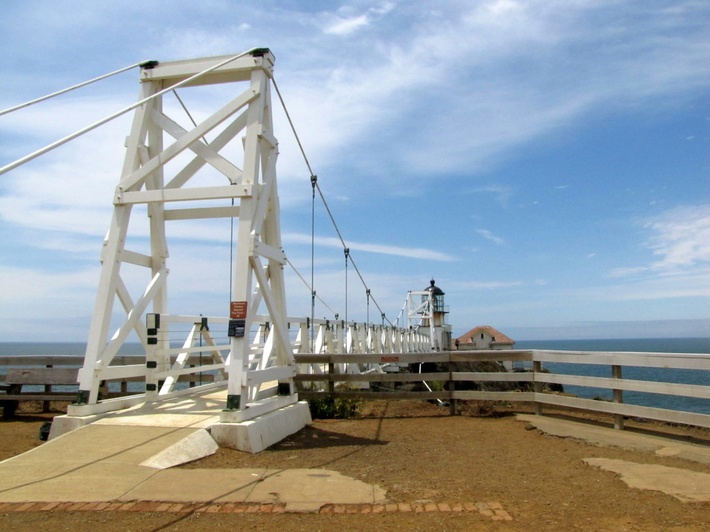 The lighthouse was closed in 2010 after the original bridge was deemed too dangerous. This is the new bridge (identical) that was finished in 2012. Photo by Rudha-an