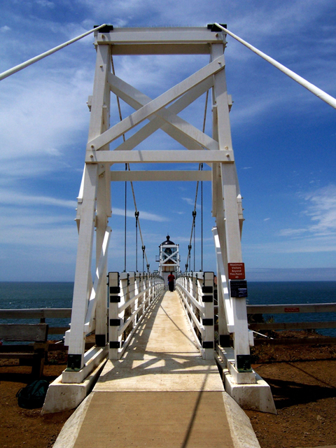 Point Bonita is the only lighthouse in the country that can only be accessed by a suspension bridge. Photo by Lastech