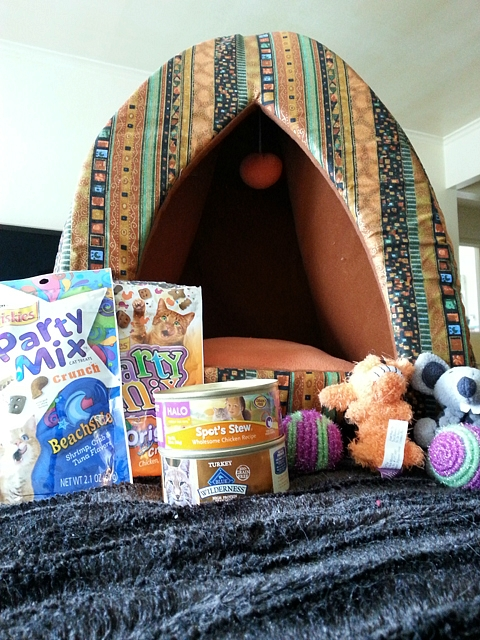 The quilted bed is beautiful and the toys and snacks are loved by all.