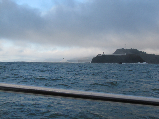 As we passed through the Golden Gate Strait, we passed the Point Bonita Lighthouse