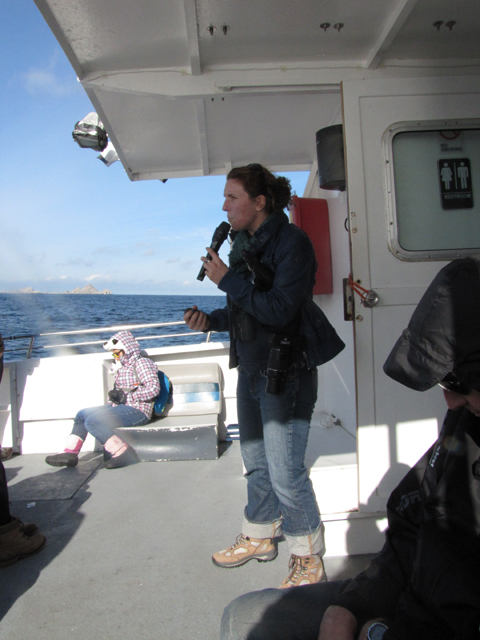 Heather, talking about sea biology. She was very interesting.