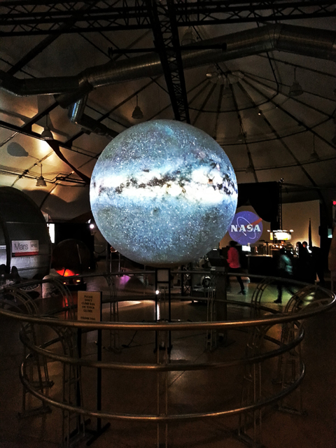 Model of the milky way at the Nasa Ames visitor center.