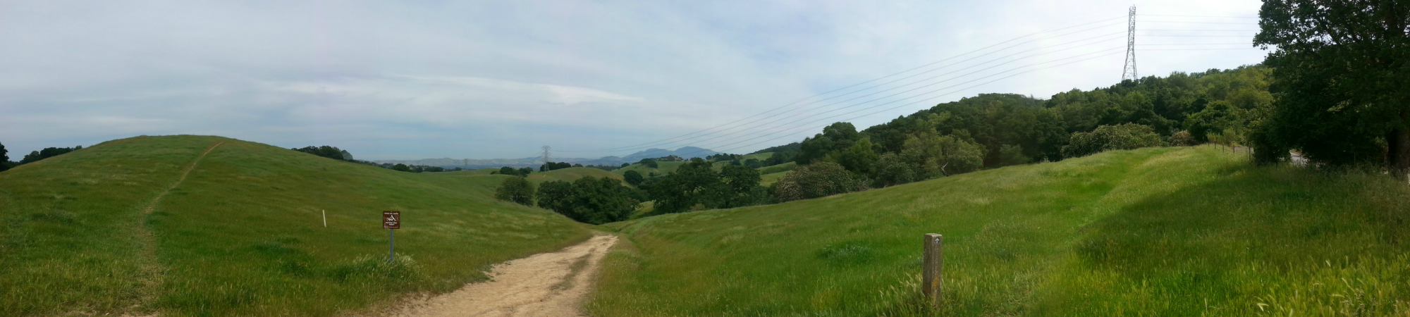 A panoramic shot looking East. Mount Diablo is visible in the background.