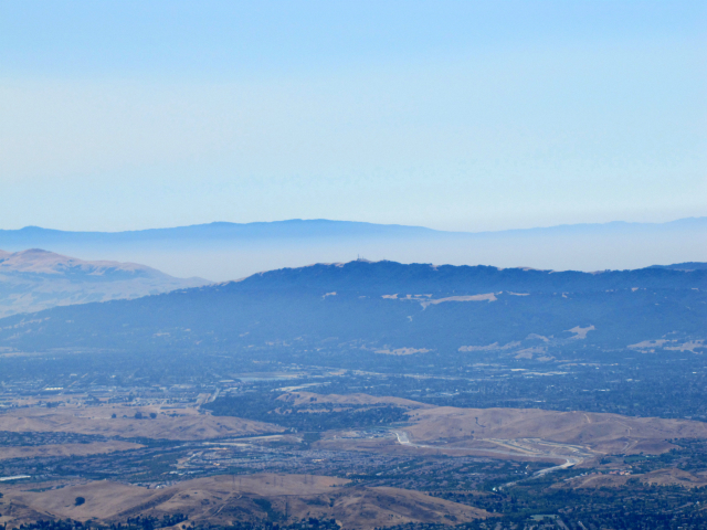 Looking to the South, you can see the smoke from the Soberanes fire in Monterey County.